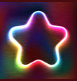 neon glowing icon of star vector image vector image