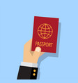 person getting a passport vector image