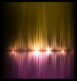 purple-yellow wide wave abstract equalizer vector image vector image