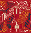 red color tribal seamless texture vector image vector image