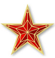 red ruby star as on the kremlin on vector image