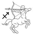 sagittarius horoscope astrology sign vector image