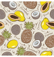 Seamless Patterns with Fruit vector image vector image