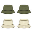set color with khaki panama hat vector image vector image