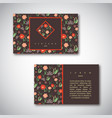 set of business cards with floral pattern vector image vector image