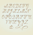 set of golden copperplate monogram letters vector image vector image