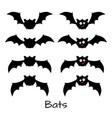 set of scary halloween bats vector image vector image