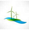set of wind turbines icon vector image vector image
