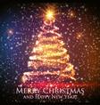 shining christmas tree on colorful vector image vector image