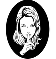 Silence Girl vector image vector image