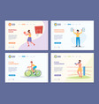 sport landing active healthy lifestyle vector image