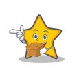 star character cartoon style with box vector image vector image