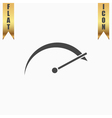 tachometer flat icon vector image