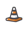 traffic striped cone icon cartoon vector image vector image
