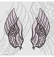 two wings vector image vector image