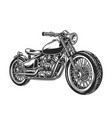 vintage motorcycle concept vector image vector image