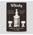 Whisky brochure flyer template vector image vector image
