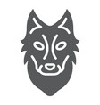 wolf glyph icon animal and zoo vector image vector image