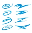 Swirly Swooshes and Strokes vector image