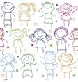 holidays pattern children vector image