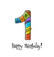 1th anniversary celebration greeting card vector image vector image