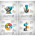 4 in 1 Business Infographics vector image vector image