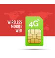 4g sim card world prepaid internet gsm phone vector image vector image