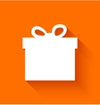 abstract christmas gift box on orange background vector image vector image