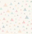 abstract seamless pattern with triangles pastel vector image vector image