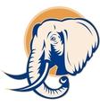 african bull elephant head vector image vector image