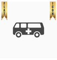 ambulance flat icon vector image