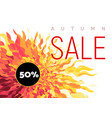 autumn sale flyer on abstract fall background vector image vector image