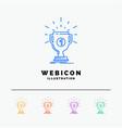 award cup prize reward victory 5 color line web vector image vector image