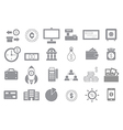 Banking gray icons set vector image