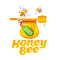 bee and honey set vector image vector image
