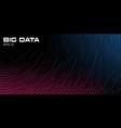 big data visualization dynamic radial path vector image vector image