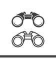 binoculars icons filled and line style vector image