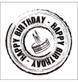 Birthday round seal vector image