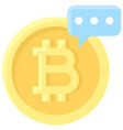 bitcoin and rumors icon cryptocurrency related vector image