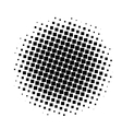 black and white squares halftone pattern vector image vector image