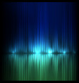 blue-green wide wave abstract equalizer vector image vector image