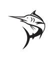 blue marlin icon vector image