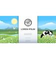 bright rural meadow landscape background vector image vector image