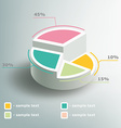 Business Infographics circle graph vector image