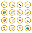business planning icon circle vector image vector image