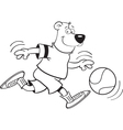Cartoon Basketball Bear vector image vector image