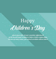 children day background collection stock vector image vector image