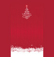 christmas background with new year tree and snow vector image vector image