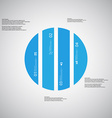 Circle template consists of four blue parts on vector image vector image