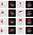 collection abstract logos vector image
